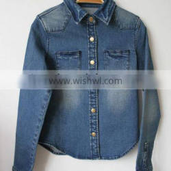 2015 spring and autumn new style womens jacket, grils jean jackets