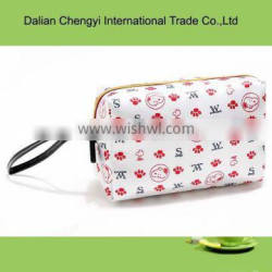 Low toxicity simple promotional women polyester chic Cosmetic Bags