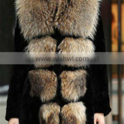 Whole And Retail/Fox Fur Short Vest/Cool/New Collection