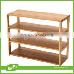 5 tier eco-friendly shelving unit/bamboo eco-friendly shelves with wheels
