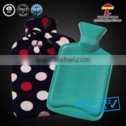 Natural Rubber Hot Water Bag with coral fleece cover