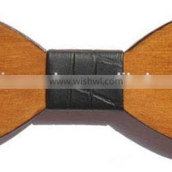 Nature wooden fashion bow ties fashion OEM design order