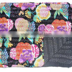 Decorative Home Hotel light weight Quilt,Vintage Kantha Quilts Blanket Cotton Bedcover