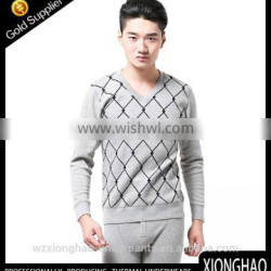 Newest style V-neck soft cotton military thermal underwear made in cangnan