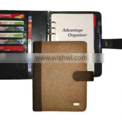 PVC COVER NOTEBOOK WITH BINDER,136 SHEETS TAB PAPER