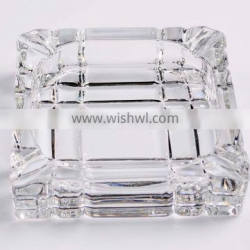 Embossed Fluted square glass ashtray