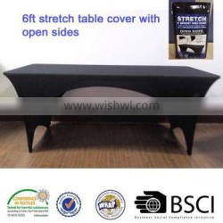 6ft stretch rectangle table cover with open sides spandex banquet 6ft table cover