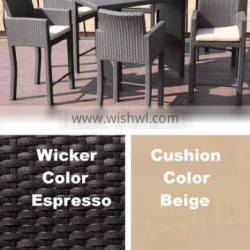 2017 Sigma Best selling all weather pvc plastic rattan outdoor bar furniture