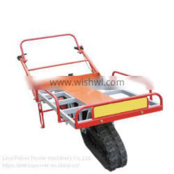 SH-80 crawler-type single tracked motor barrow with gas engine for agricultural transportation