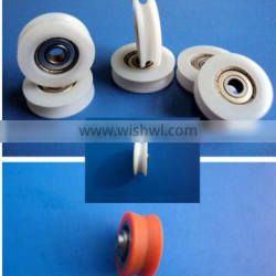 42-0050 flat blet conveyor drive v ball sliding window roller wire u groove nylon plastic cable rope pulley wheels with bearings
