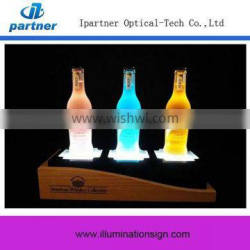 Hot Selling High Quality New Type Wooden Led Bottle Glorifier Display