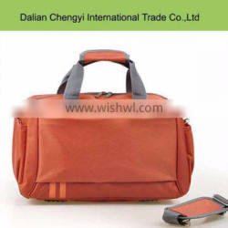 Wholesale high capacity solid color polyester travel sport tote bag with long strap