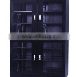 Esd humidity control storage cabinet with doors