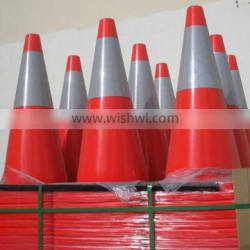 Customized PVC red used traffic cone with reflective tapes