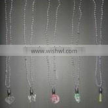 Beads Necklace with LED Flashing Ornaments (for Parties and Holidays)/plastic party bead necklace