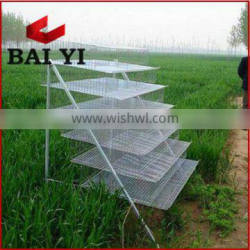 Metal Wire Mesh Layer Poultry Quail Cages With Poultry Quail Feeder Drinker