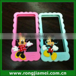 Soft Cute 3D Silicone Phone Case Frame For IPhone Minnie mickey