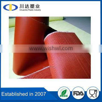 silicone rubber coated fiberglass cloth/fabric, silica rubber fabric/sheet, manufacturer from China