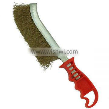 Steel wire Knife Brushes Plactic Handlees