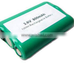 High quality 3.6v 800mAh nimh rechargeable battery for