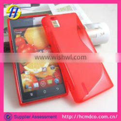 2013 new black rubber S TPU case for huawei Ascend P2 case