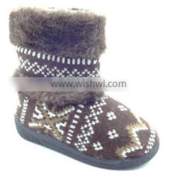 wholesale winter girls knitted boot