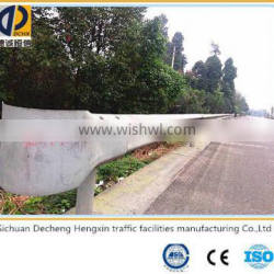Curved hot rolled plastic spraying highway steel guardrails