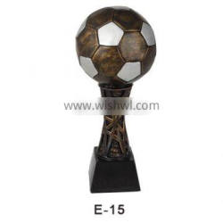 Hot sale Decorative football resin trophies