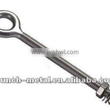 LF-JS2706 STAINLESS STEEL EYE BOLTS WELDED WITH NUTS,AISI 304OR 316 PLATED