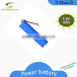 Top Quality Cheap Rechargeable Lithium ion 18650 6Ah 7.4VBattery Pack with PCM