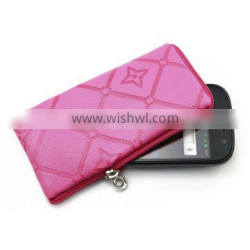 Mobile Phone Case with Zipper and Lanyard, Customized Patterns/Logos are Welcome