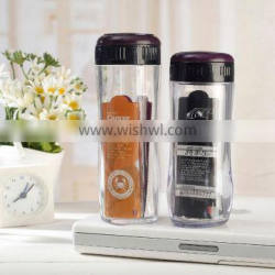 500ml Customized logo bpa free plastic tea cup with filter