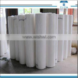 Raw white 40GSM pva water soluble non-woven paper with width of 1.0-3.2m for fabric embroidered from China manufacture