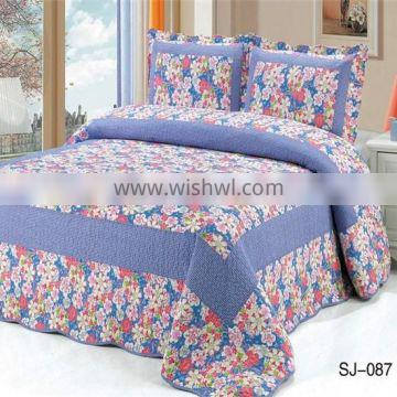 3-Piece Coverlet and Shams Set Quilt Sales Cotton Flroal Printing