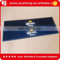 pvc brand logo bar mat with different color