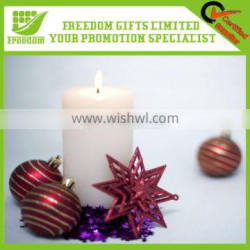 Promotional Cylindrical Flameless Wax Led Candle