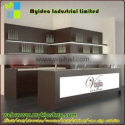 Myidea new Nice wooden bar counter design with led light for sale.