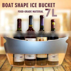 Plastic beverage party tubs 7L boat shape wine cooler with handles