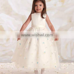 2015 new design fashion baby girl party wear dress