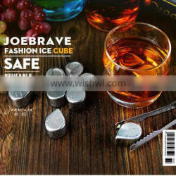 Raindrop stainless steel ice cubes,Stainless steel whiskey stones