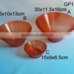2016 new decorate design red glass bowl