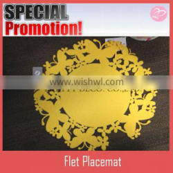 Egg style round felt table mat for easter decoration