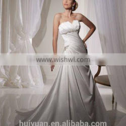 sexy detachable strap satin beaded ball gown real sample wedding dress