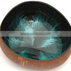 Best selling high quality handmade lacquered coconut shell bowl