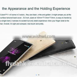 Cubot p11 5.0inch android 5.1 quad core smartphone 1gb ram 8gb rom cellphone.
