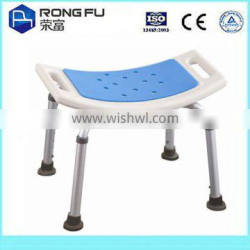 Satin finished shower chair with XPE soft pad seat