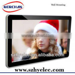 Wall mounting 65 inch lcd digital signage media players, Support 1080P video