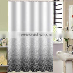100% polyester Elegant Design shower curtain for hotel, family, waterproof bath curtain