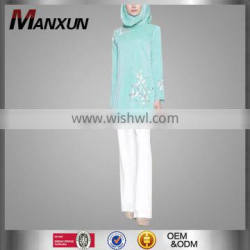Latest Designs Abaya Hot Sell Embroidery Fashion Sweep Tunic Wholesale Online Muslim Women Top