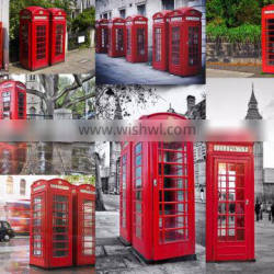 Metal crafts Red Telephone box telephone booth